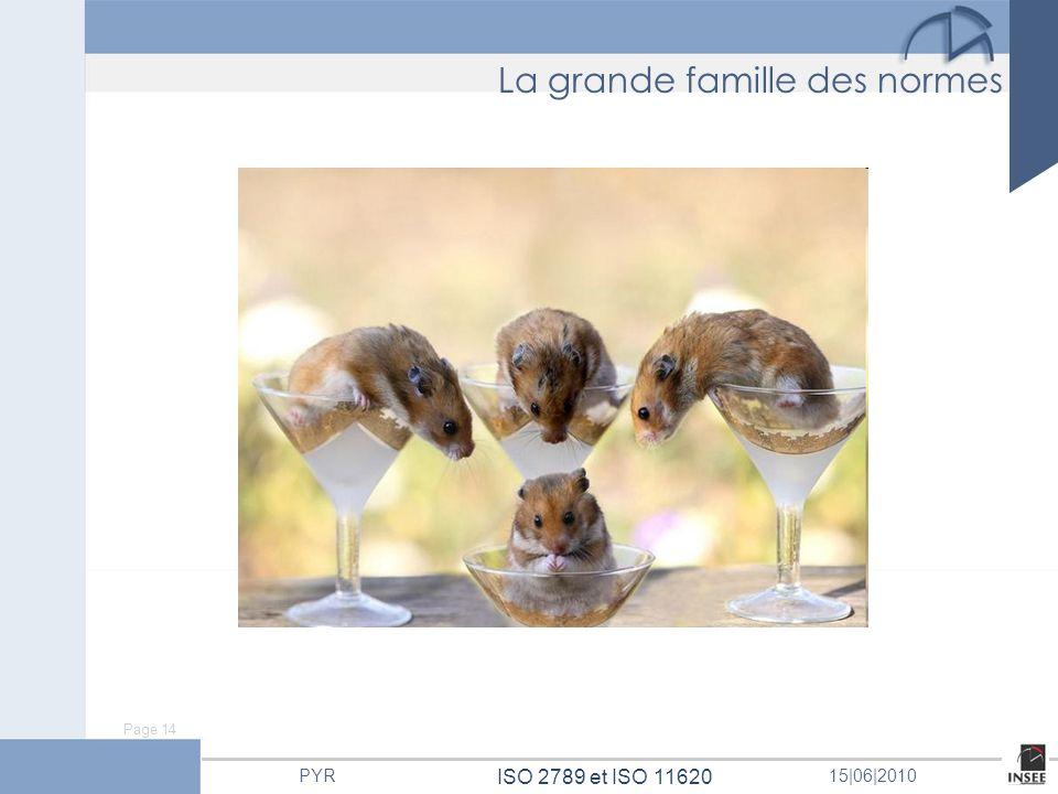 Page 14 ISO 2789 et ISO 11620 PYR15 06 2010 La grande famille des normes