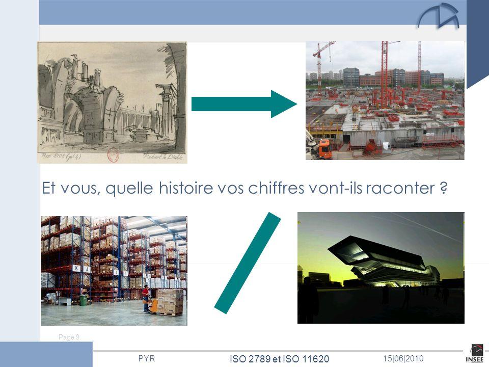 Page 9 ISO 2789 et ISO 11620 PYR15 06 2010 Et vous, quelle histoire vos chiffres vont-ils raconter ?