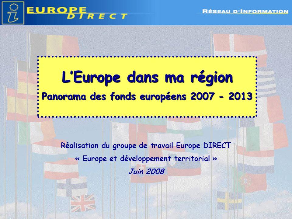 Ressources Sinformer sur lEurope en région : Les relais Europe DIRECT : http://www.touteleurope.fr/fr/menu-rapide-haut/annuaire/les-reseaux-d- information-par-type/europe-direct.html Les relais Entreprise Europe Network pour les entreprises : http://www.enterprise-europe-network.ec.europa.eu/countries/france_en.htm Les Préfectures de région et leurs sites web