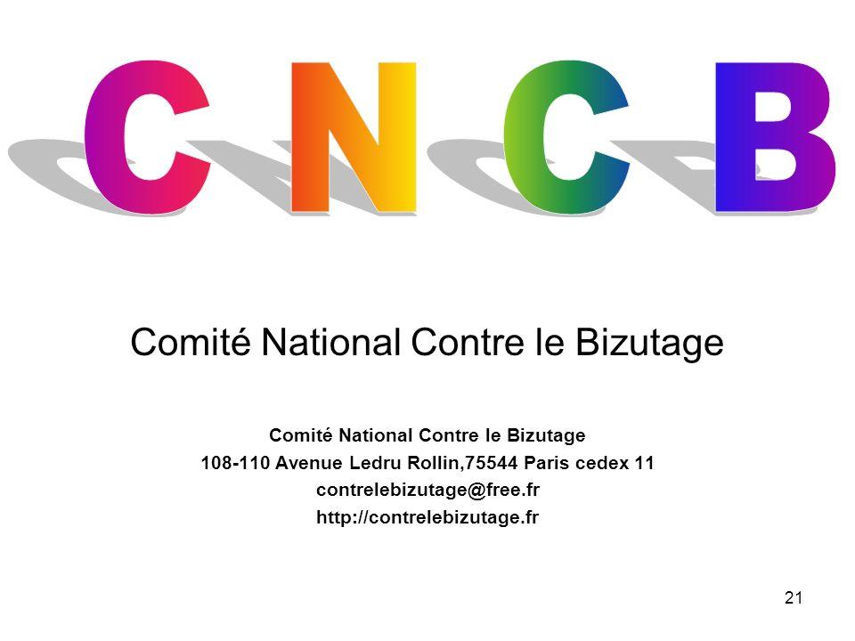 21 Comité National Contre le Bizutage 108-110 Avenue Ledru Rollin,75544 Paris cedex 11 contrelebizutage@free.fr http://contrelebizutage.fr