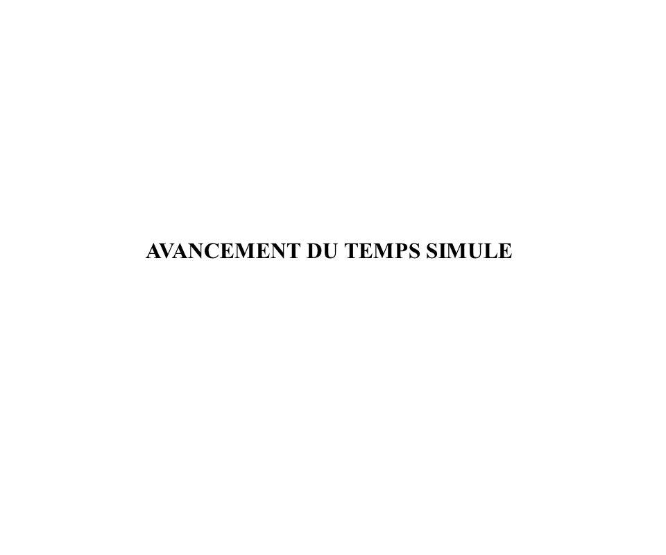 AVANCEMENT DU TEMPS SIMULE
