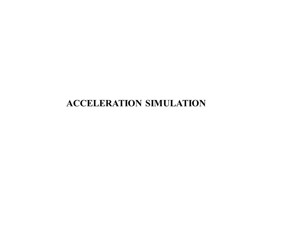 ACCELERATION SIMULATION