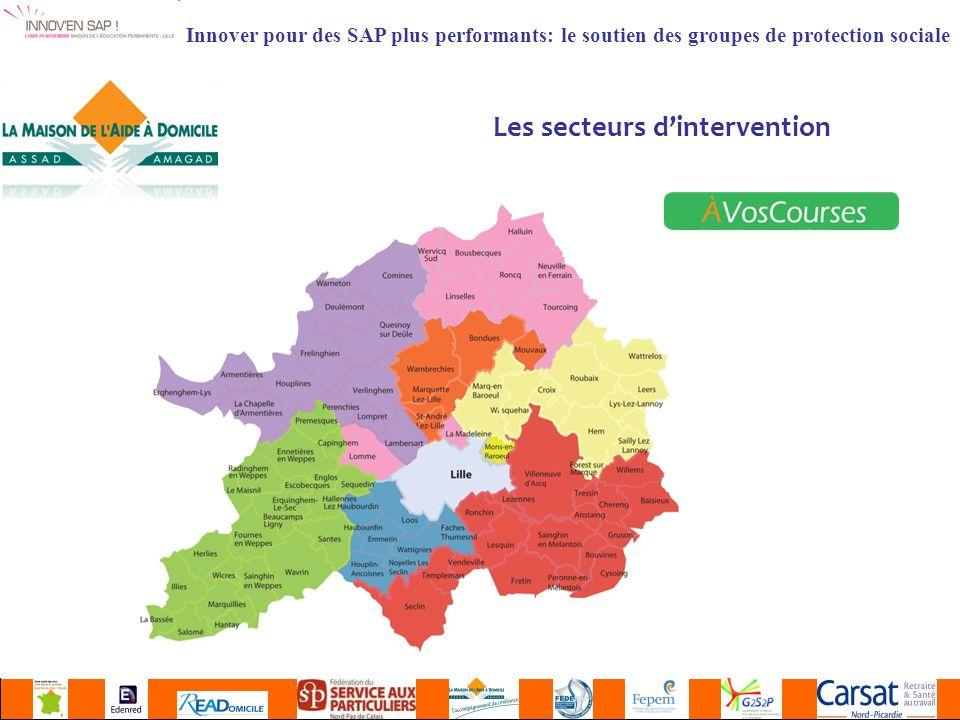 Innover pour des SAP plus performants: le soutien des groupes de protection sociale Les secteurs dintervention