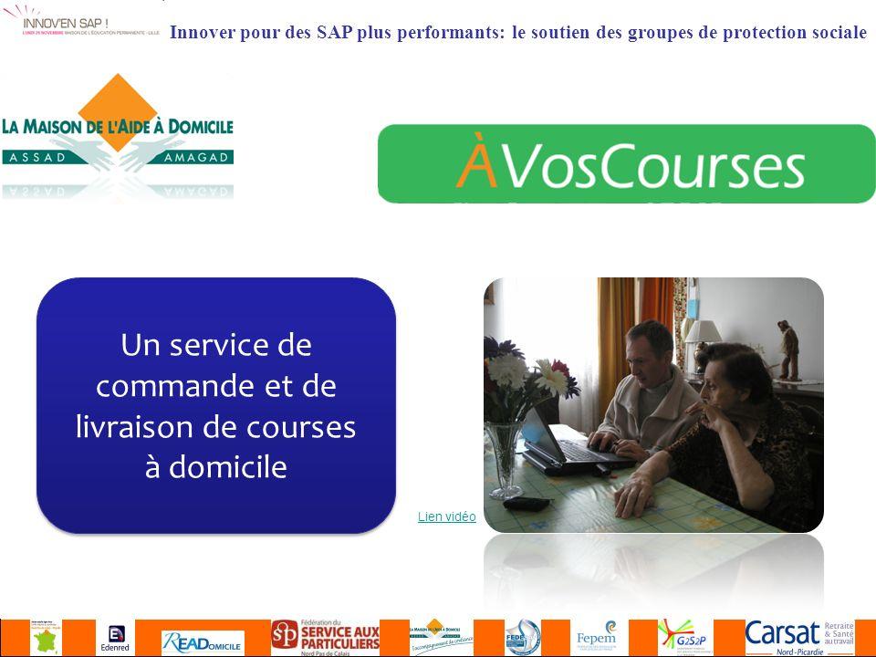 Innover pour des SAP plus performants: le soutien des groupes de protection sociale Un service de commande et de livraison de courses à domicile Lien vidéo