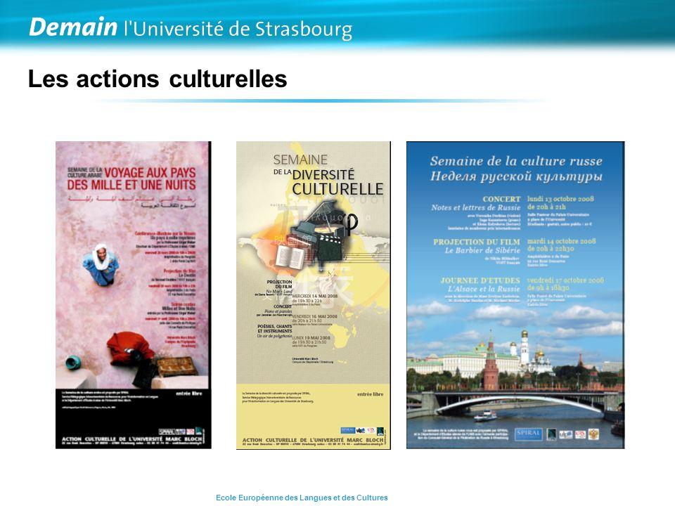 Les actions culturelles Ecole Européenne des Langues et des Cultures