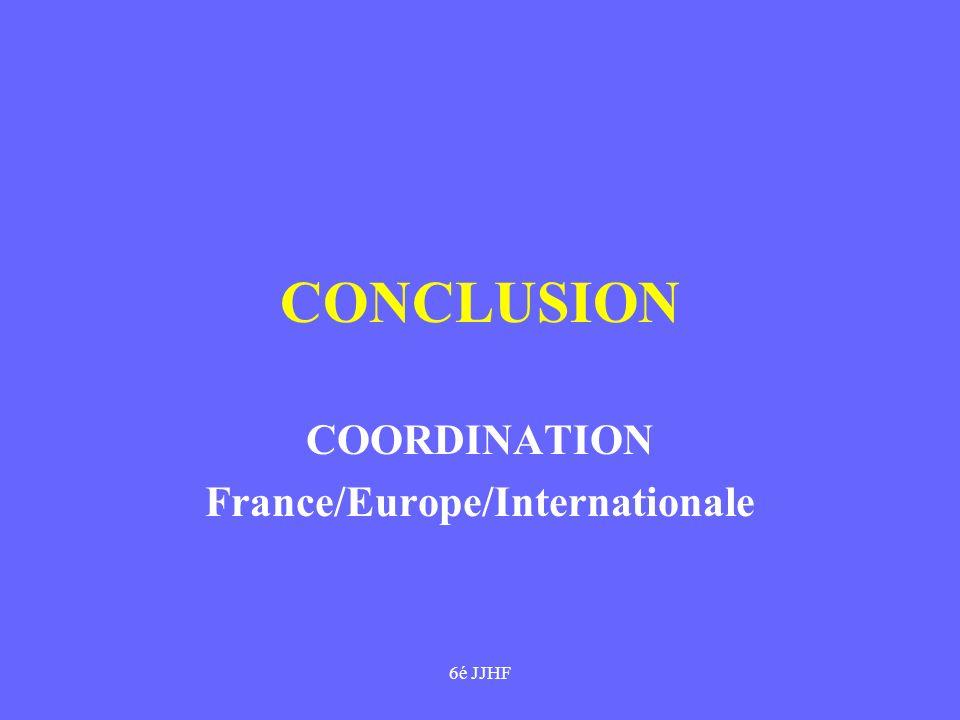 6é JJHF CONCLUSION COORDINATION France/Europe/Internationale