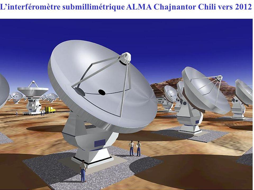 Linterféromètre submillimétrique ALMA Chajnantor Chili vers 2012