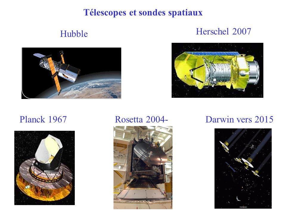 Télescopes et sondes spatiaux Hubble Herschel 2007 Planck 1967 Rosetta 2004- Darwin vers 2015