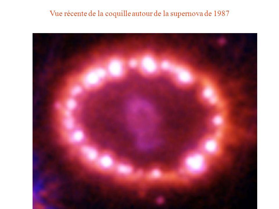 Vue récente de la coquille autour de la supernova de 1987