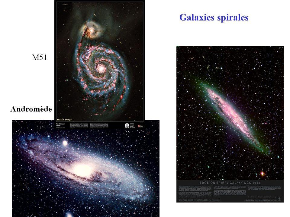 M51 Andromède Galaxies spirales