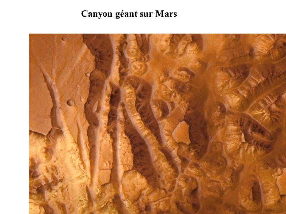 Canyon géant sur Mars
