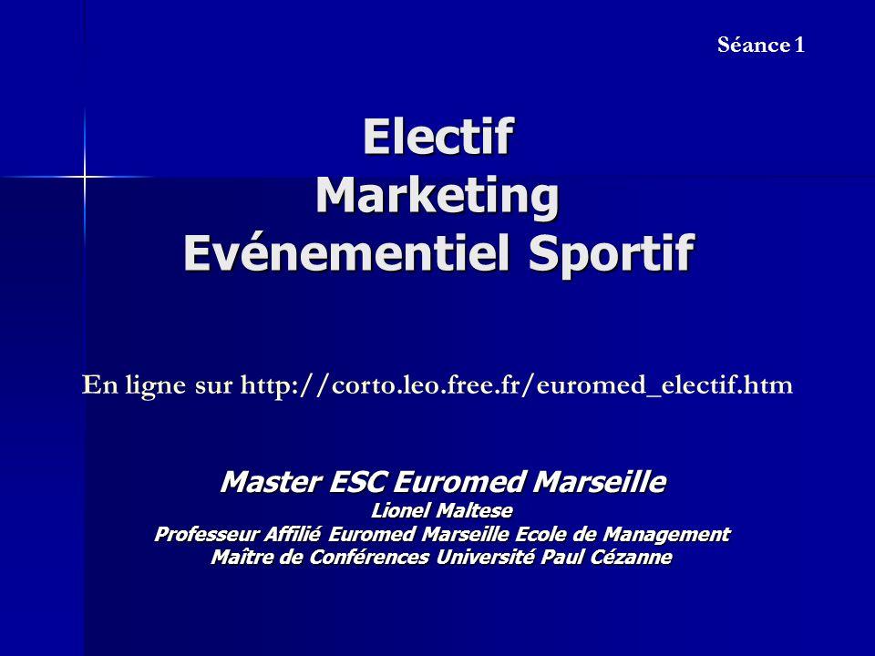 Electif Marketing Evénementiel Sportif Master ESC Euromed Marseille Lionel Maltese Professeur Affilié Euromed Marseille Ecole de Management Maître de