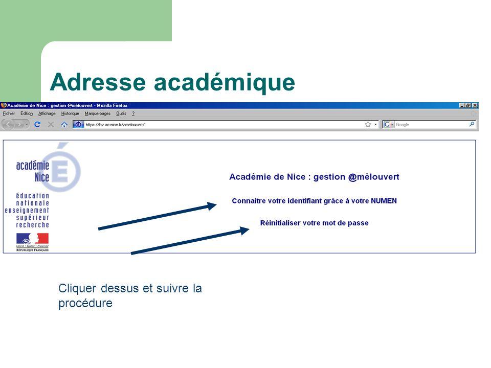 Adresse académique Vous pouvez retrouver votre identifiant à laide de votre numen à partir de ladresse : https://bv.ac-nice.fr/amelouvert/ Cliquer des