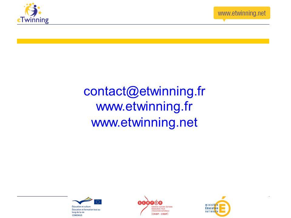 contact@etwinning.fr www.etwinning.fr www.etwinning.net