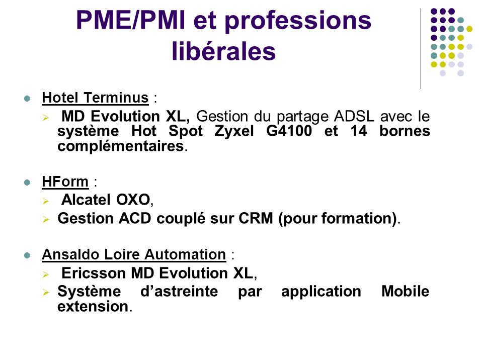 PME/PMI et professions libérales Hotel Terminus : MD Evolution XL, Gestion du partage ADSL avec le système Hot Spot Zyxel G4100 et 14 bornes complémen