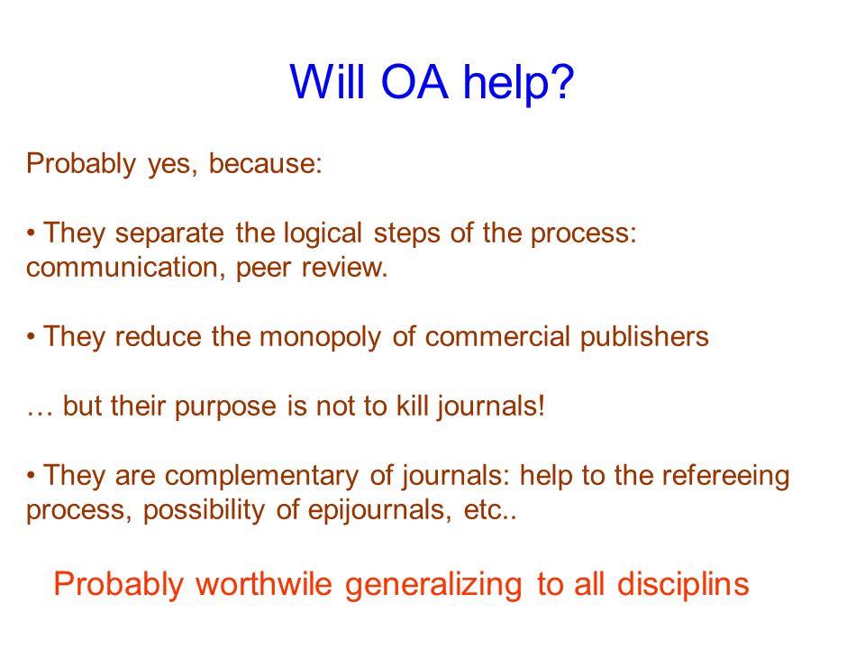 Will OA help.