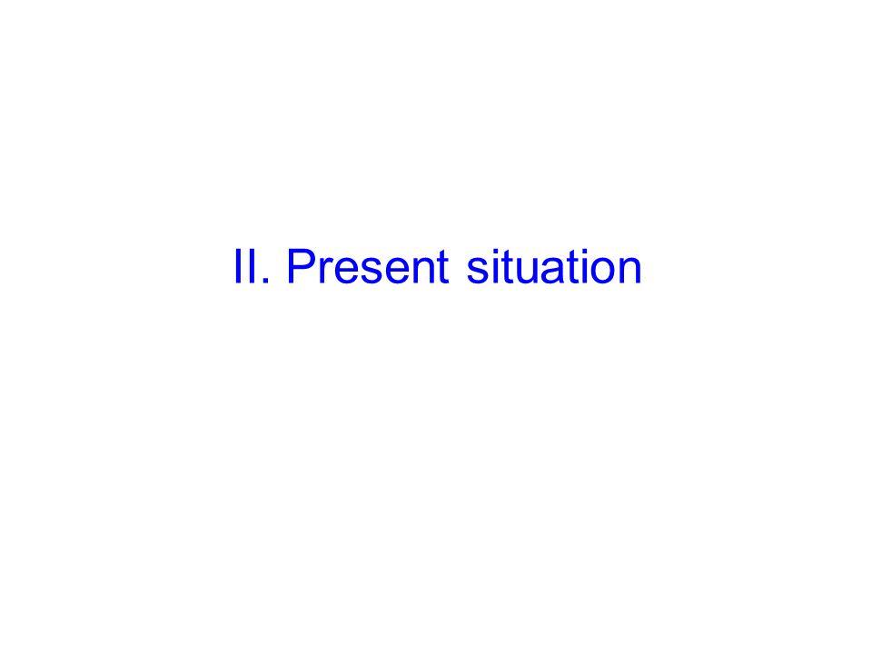II. Present situation