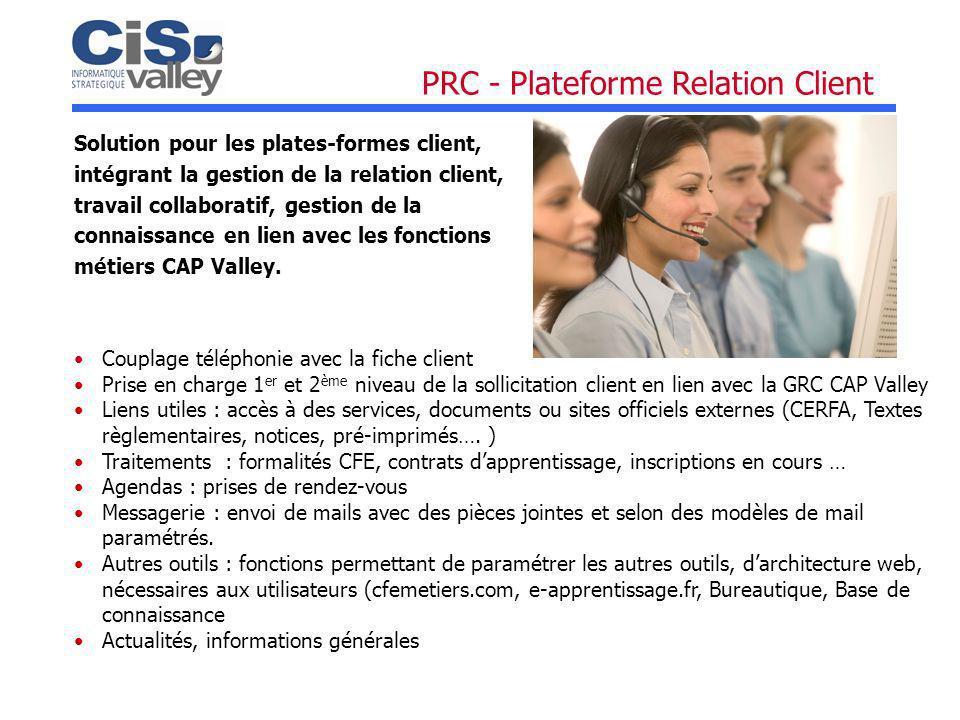 Solution pour les plates-formes client, intégrant la gestion de la relation client, travail collaboratif, gestion de la connaissance en lien avec les