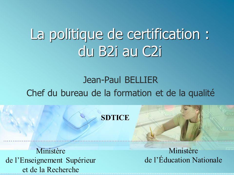 22 SDTICE Ministère de lEnseignement Supérieur et de la Recherche Les infos En général www.educnet.education.fr Pour les B2i www.educnet.education.fr/sections/formati on/certification/b2i/ Portail des C2i www.c2i.education.fr