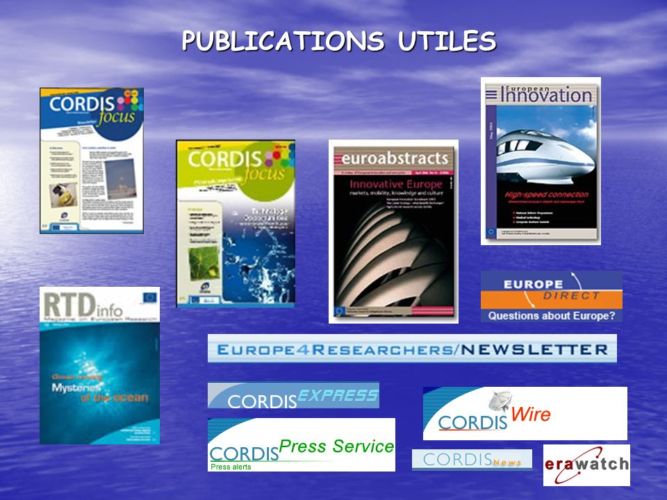 PUBLICATIONS UTILES
