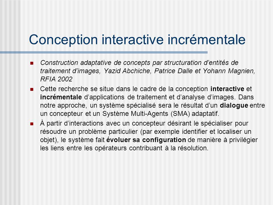 Conception interactive incrémentale Construction adaptative de concepts par structuration dentités de traitement dimages, Yazid Abchiche, Patrice Dall