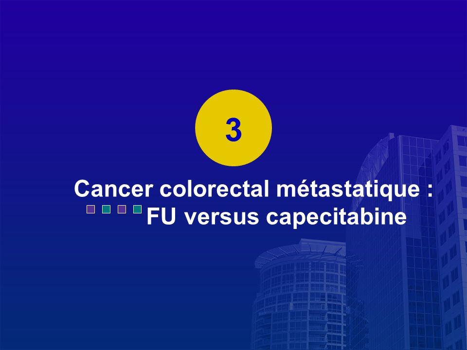La Lettre du Cancérologue Cancer colorectal métastatique : FU versus capecitabine 3