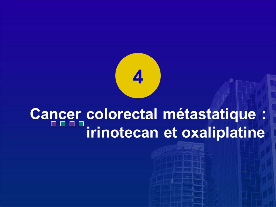 La Lettre du Cancérologue Cancer colorectal métastatique : irinotecan et oxaliplatine 4