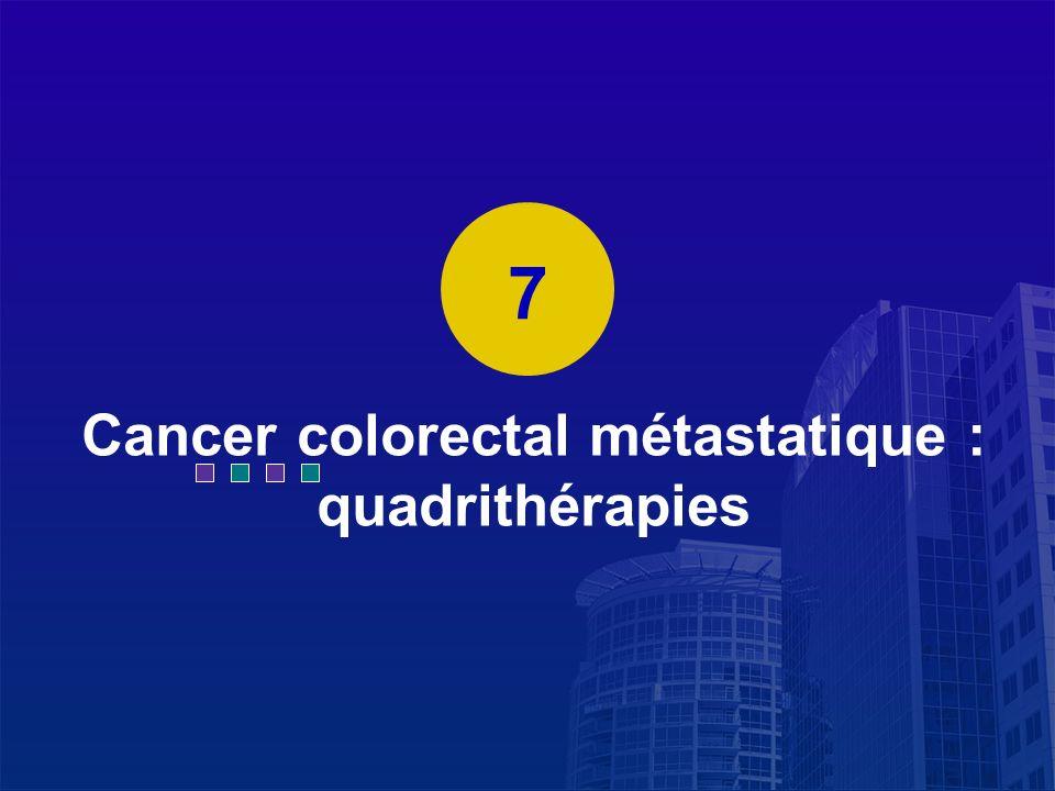 La Lettre du Cancérologue Cancer colorectal métastatique : quadrithérapies 7