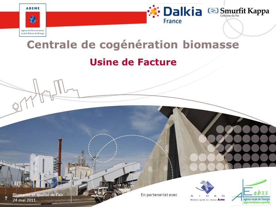 En partenariat avec Biomasse et qualité de lair 24 mai 2011 Centrale de cogénération biomasse Usine de Facture 1 En partenariat avec Biomasse et quali