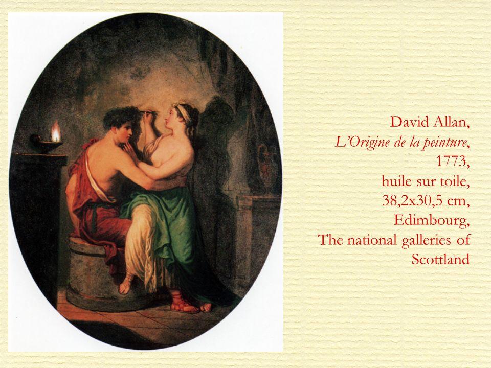 David Allan, LOrigine de la peinture, 1773, huile sur toile, 38,2x30,5 cm, Edimbourg, The national galleries of Scottland