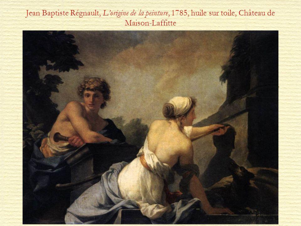 Jean Baptiste Régnault, Lorigine de la peinture, 1785, huile sur toile, Château de Maison-Laffitte