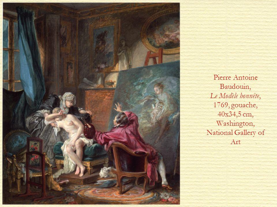 Pierre Antoine Baudouin, Le Modèle honnête, 1769, gouache, 40x34,5 cm, Washington, National Gallery of Art