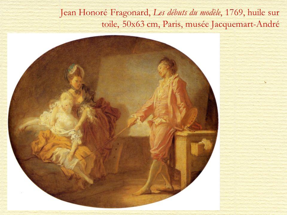 Jean Honoré Fragonard, Les débuts du modèle, 1769, huile sur toile, 50x63 cm, Paris, musée Jacquemart-André