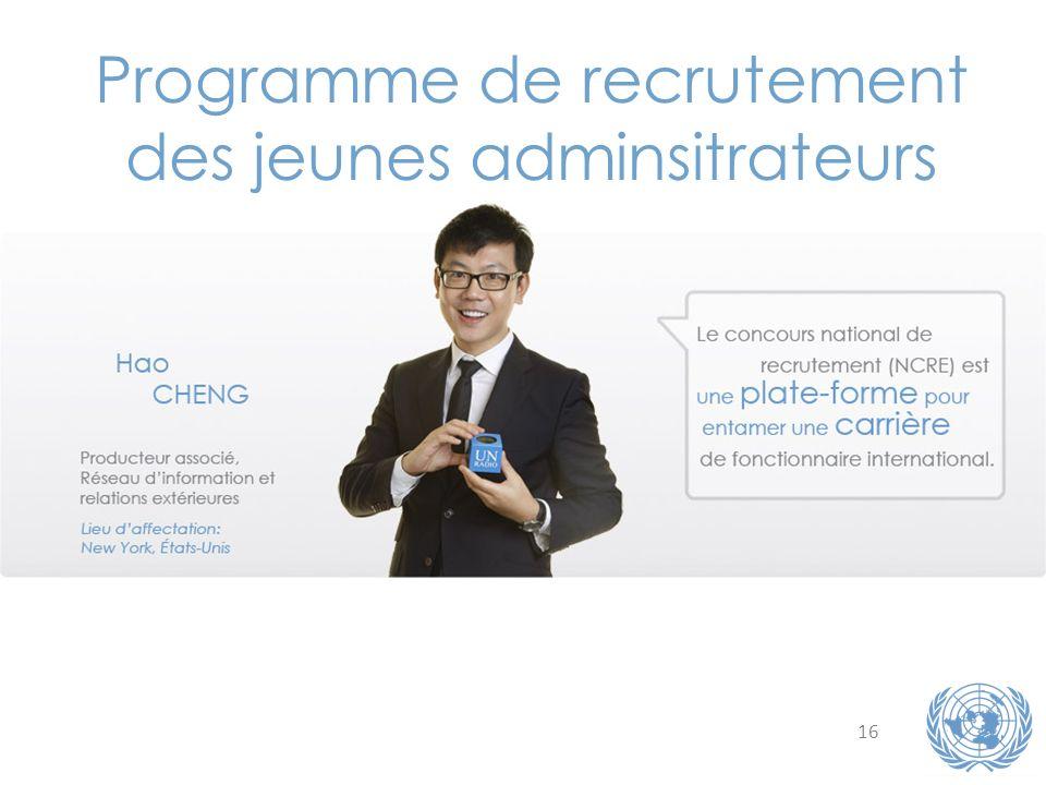 16 Programme de recrutement des jeunes adminsitrateurs