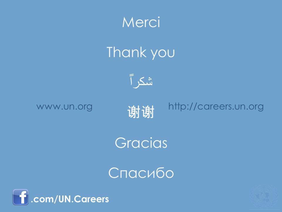 www.un.orghttp://careers.un.org.com/UN.Careers Merci Thank you Gracias Спасибо