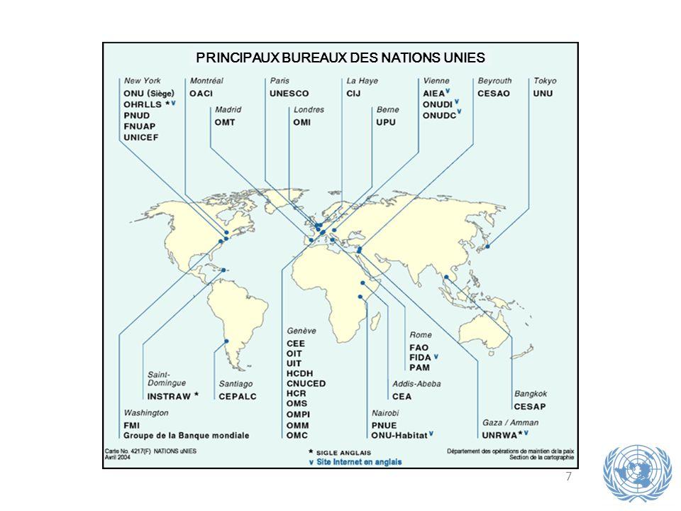 7 PRINCIPAUX BUREAUX DES NATIONS UNIES