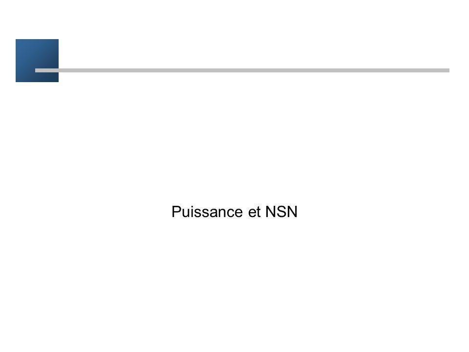 Puissance et NSN