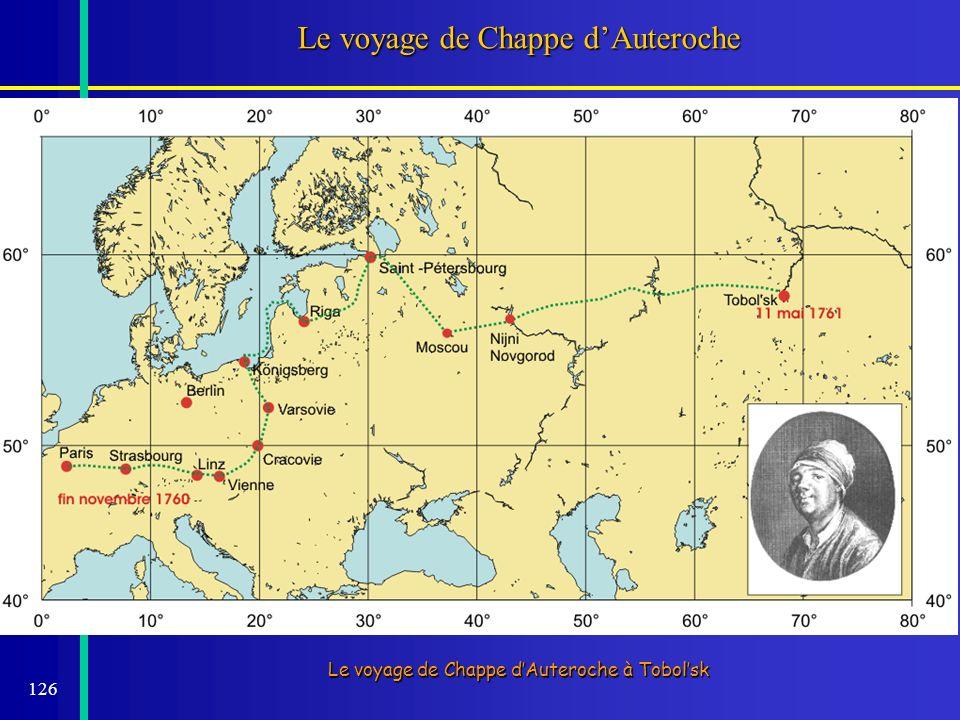 126 Le voyage de Chappe dAuteroche Le voyage de Chappe dAuteroche à Tobolsk