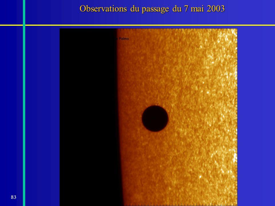 83 Observations du passage du 7 mai 2003