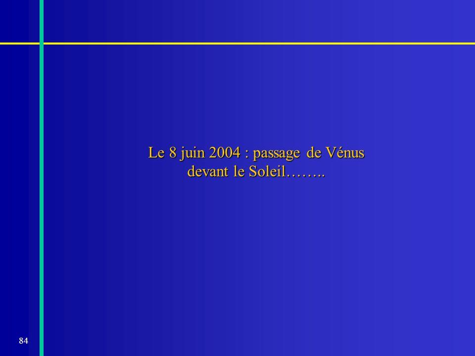84 Le 8 juin 2004 : passage de Vénus devant le Soleil……..