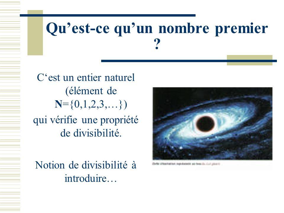 Les Nombres Premiers Yves Aubry Cours de I 55 – L3 Info Université du Sud Toulon-Var Septembre 2008