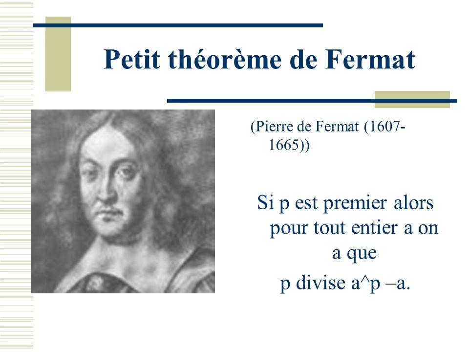 Critères de primalité A-ton des caractérisations des nombres premiers ? Autrement dit, p est premier si et seulement si une formule est vérifiée ?