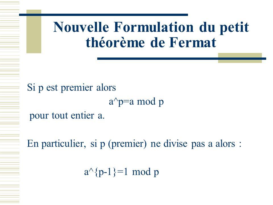 Congruences On dit que a est congru à b modulo n : a=b mod n si n divise a-b.