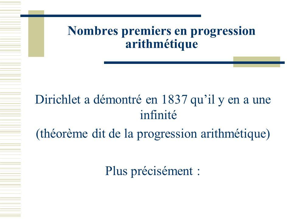 Espacements entre nombres premiers consécutifs Que peut-on dire de la différence d_n=p_n+1 –p_n entre deux nombres premiers consécutifs ? d_n peut êtr