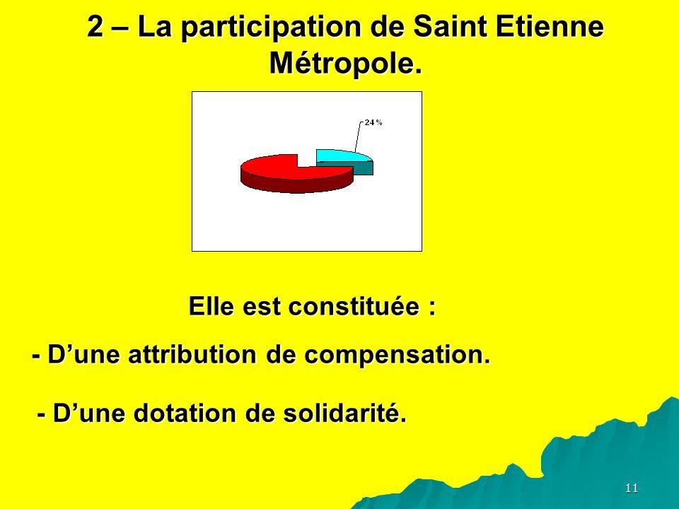 11 2 – La participation de Saint Etienne Métropole.