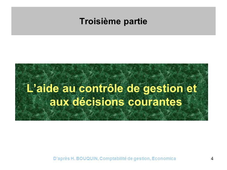 Daprès H. BOUQUIN, Comptabilité de gestion, Economica5 Chapitre 8 Le calcul du résultat