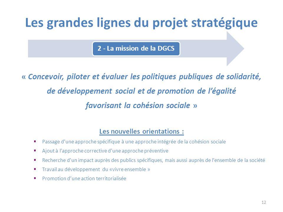 « Concevoir, piloter et évaluer les politiques publiques de solidarité, de développement social et de promotion de légalité favorisant la cohésion soc