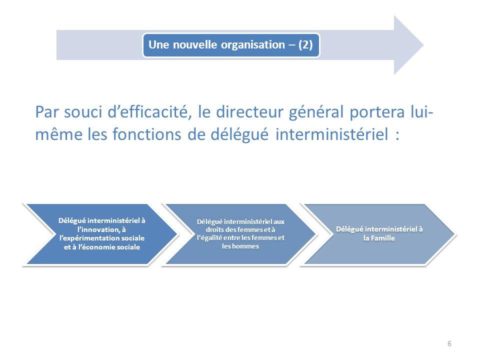 Délégué interministériel à linnovation, à lexpérimentation sociale et à léconomie sociale Délégué interministériel aux droits des femmes et à l'égalit