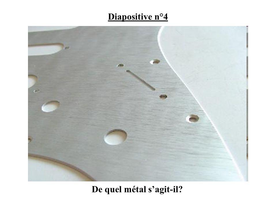 De quel métal sagit-il? Diapositive n°4