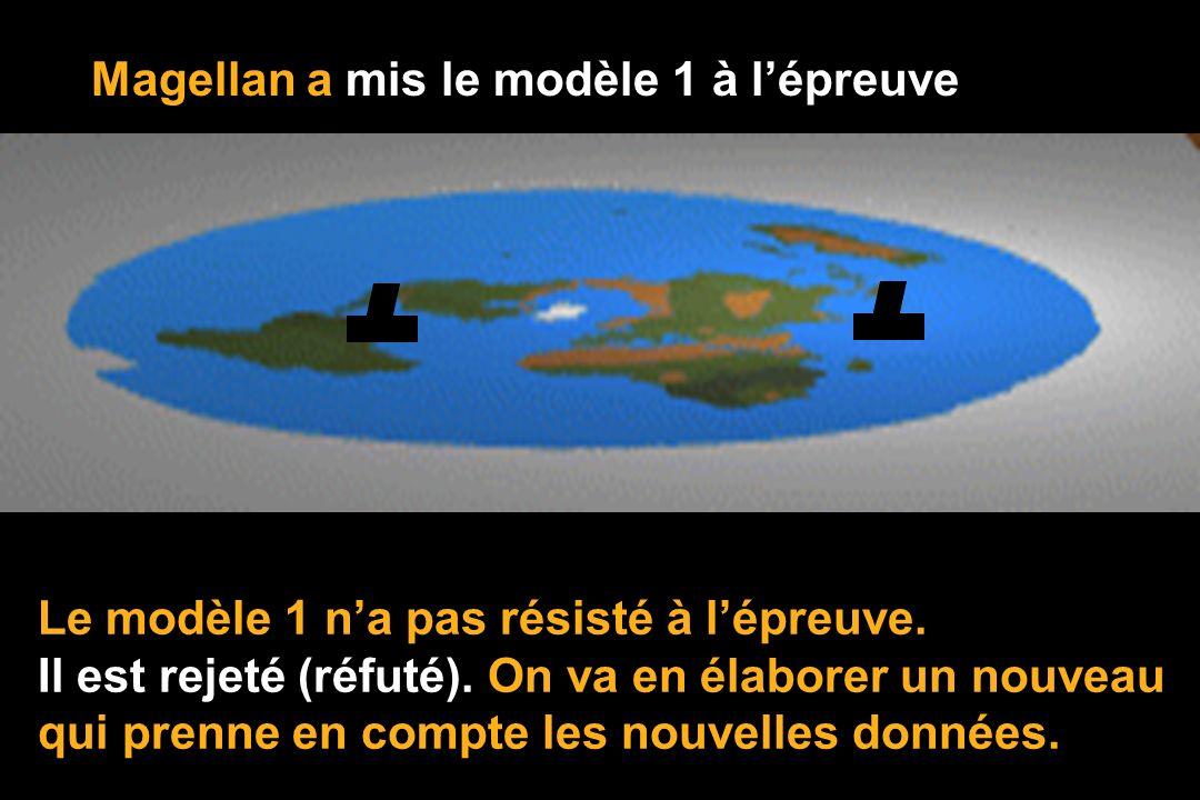 Magellan a mis le modèle 1 à lépreuve Le modèle 1 na pas résisté à lépreuve.